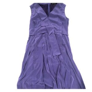 Marc Jacobs Size 12 Silk Dress pleated detail